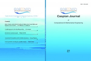 """ Caspian Journal of Computational and Mathematical Engineering ( CJCME ) "" , ISSN: 2476-4418"